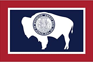 product image for Eder Flag - Endura-Nylon Wyoming State Flag - Indoor & Outdoor - Proudly Made in The USA - Durable - Fade-Resistant - Quality Craftsmanship (12X18 Inch)