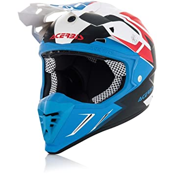 Casco moto Cross/Enduro Acerbis Profile 3.0 Snapdragon XL BIANCO-BLU