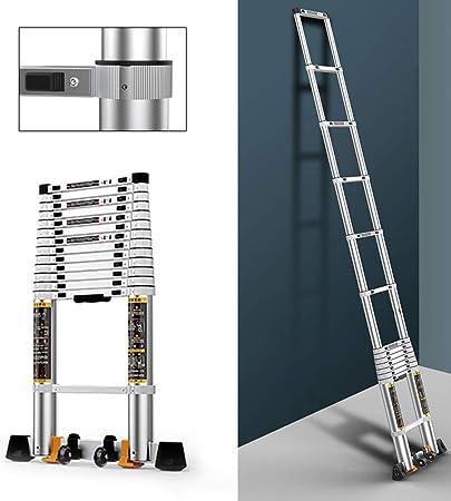 Escalera Telescópica MYL Escalera De Aluminio Telescópico Plegable For Interior/Trabajo Al Aire Libre, Multiuso Escalera De Extensión con El Mecanismo De Bloqueo Antideslizante De Diseño - 330 Lbs C: Amazon.es: Hogar