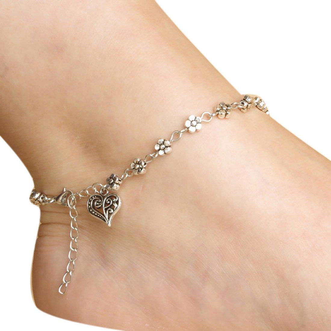 Fulltime(TM) Girls Hot Handmade Bead Chain Anklet Foot Leg Chain Bracelet Jewelry AVJ0QsvY