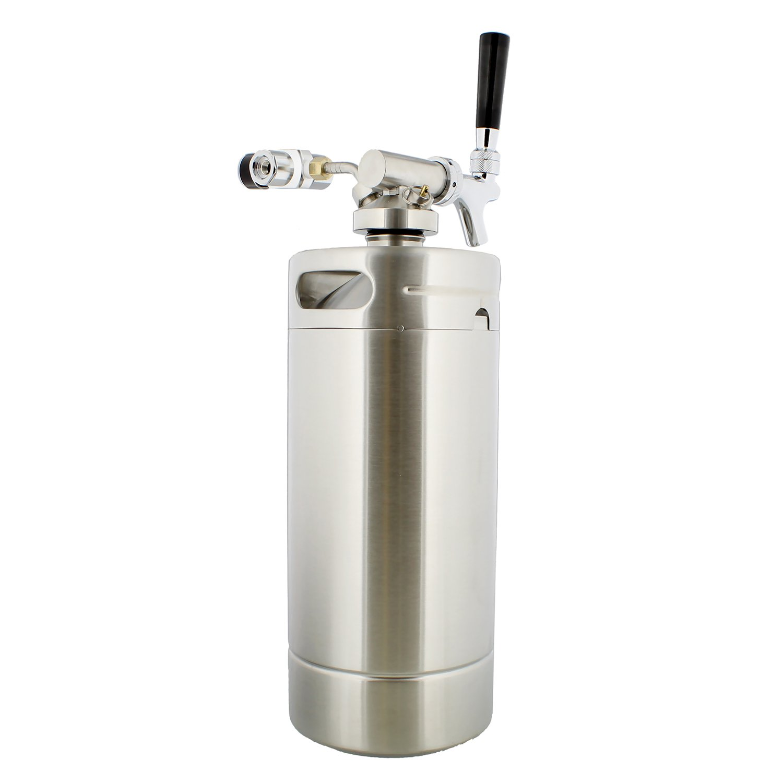 Keg with Keg Regulator and Beer Dispenser Portable Keg Draft Beer Dispenser 128 oz Portable Beer Dispenser