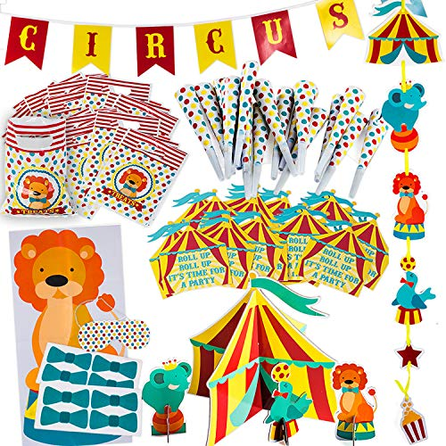 Circus Party Supplies Decorations - Circus Themed Party Supplies - Carnival Party Supplies - Carnival Theme Decorations by Tigerdoe ()