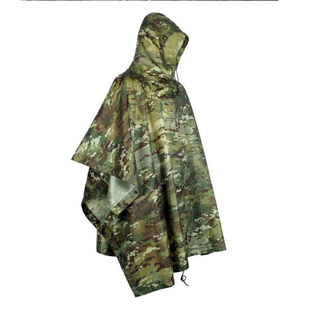 A SCJ Poncho, 3 en 1 extérieur imperméable Polyvalent Sac à Dos imperméable imperméable Hommes et Femmes Camouflage imperméable (Couleur  B)