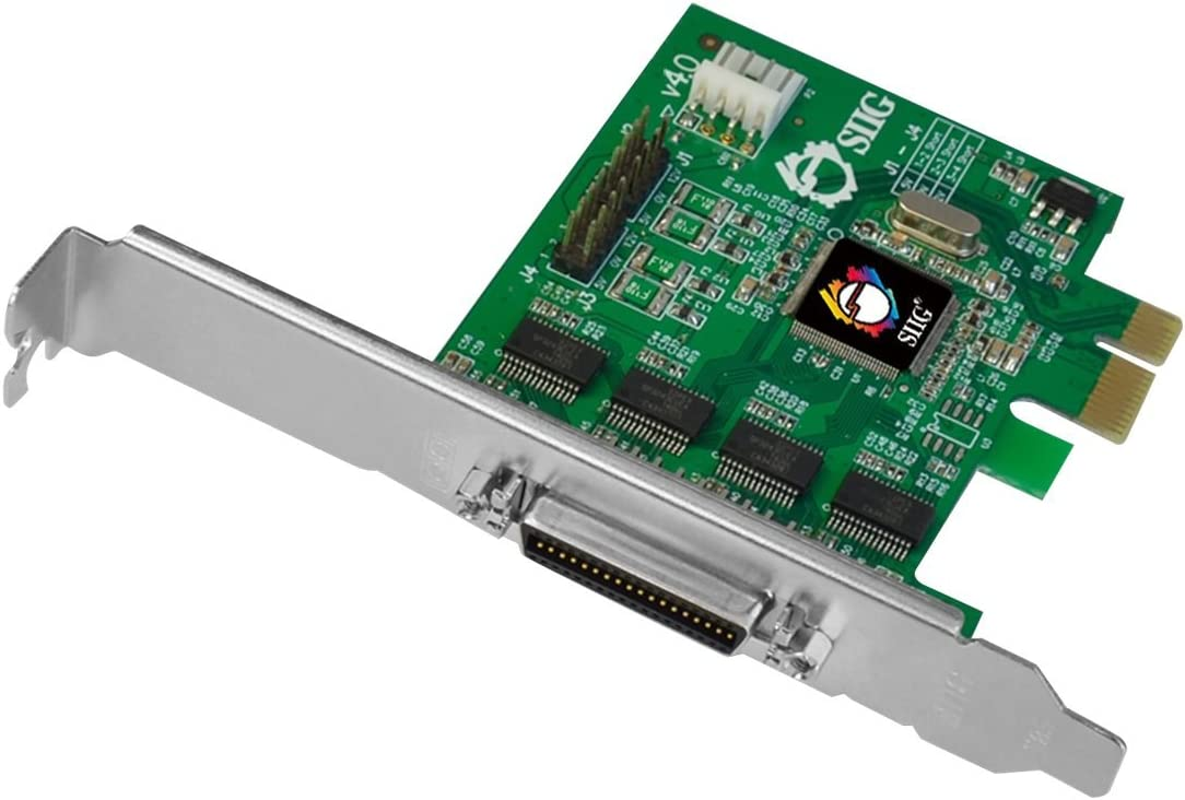 SIIG DP CyberSerial 4S PCIe Serial Adapter PCI Express 1.1 x1 Low Profile RS-232 Silver JJ-E40011-S4