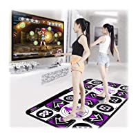 Xuways Dance Mats, Double Game Electronic Dance Mat Non-Slip Dance Floor Mat Dance Step Pads Sense Game Toys for PC TV Suitable for Adults and Children (A)
