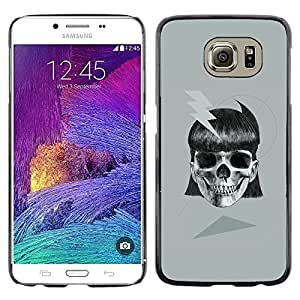 Colorful Printed Hard Protective Back Case Cover Shell Skin for Samsung Galaxy S6 / SM-G920 / SM-G920A / SM-G920T / SM-G920F / SM-G920I ( Girl Skull Electric Metal Ink Biker Tattoo )
