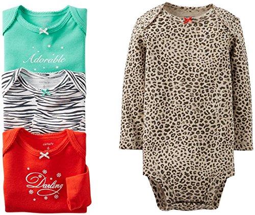 Carters Girls Animal Print Bodysuits
