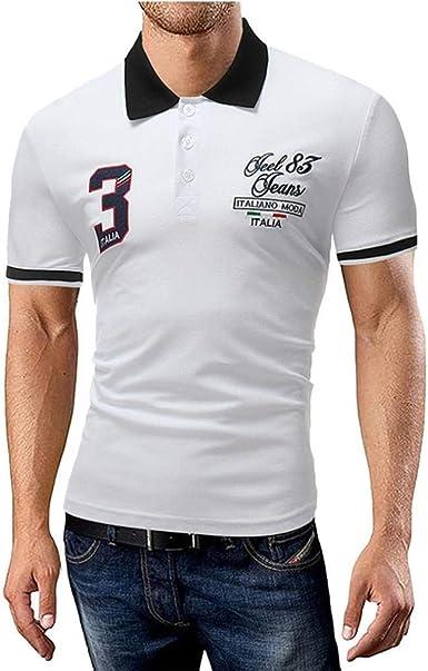 Camisa De Polo De Banbian Camisa De Golf Retro De Corte Slim ...