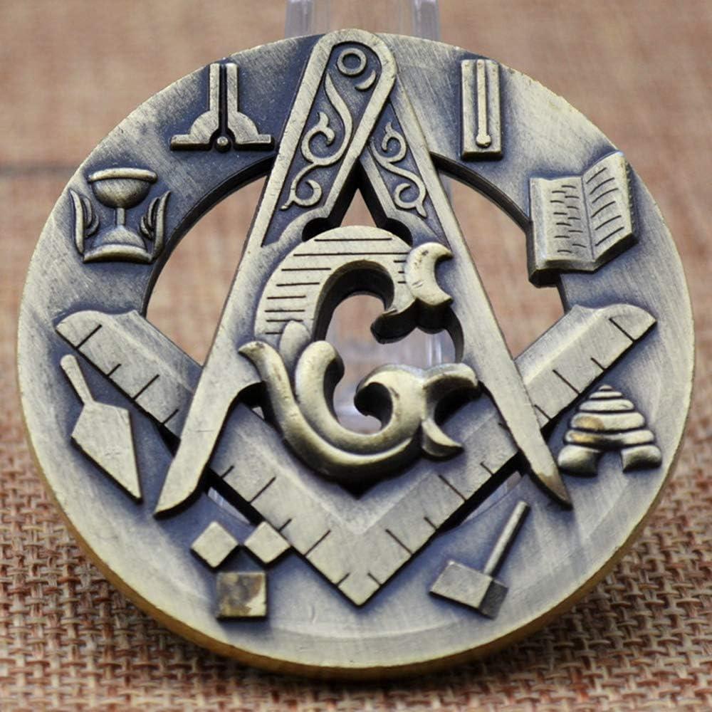 Masonic Challenge Coin Symbolic Square /& Compass Masonic Auto Emblem