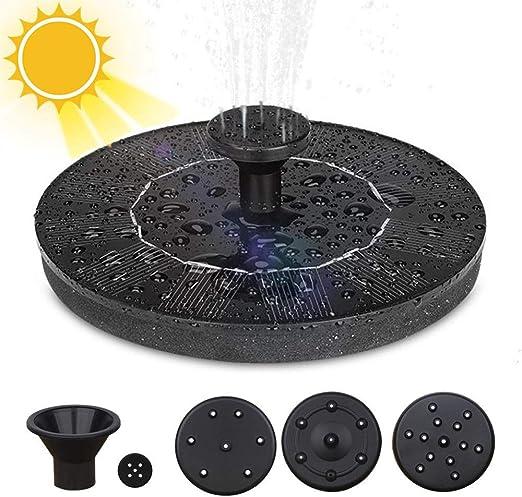 Solar Fuente Bomba, 1.4W Fuente de Jardín Solar Flotado con 4 boquillas Kit de Bomba Sumergible para Piscina de Estanques al Aire Libre, Decoración de Jardín de Pecera: Amazon.es: Jardín