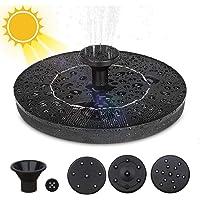 Solar Fuente Bomba, 1.4W Fuente de Jardín Solar Flotado con 4 boquillas Kit de Bomba Sumergible para Piscina de Estanques al Aire Libre, Decoración de Jardín de Pecera
