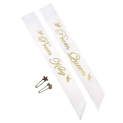 Yolito 2 Pack Roi Prom et Sash Queen Satin Sash, Accessoire de fête ... b1d17968140