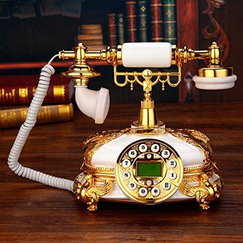 Telephone Villa Deluxe Landline Phone Continental Retro Vintage Antique Phone Lovely Turkish TV Phone Solid wood phone ( Color : Hands-free version )