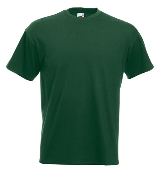 Fruit of the Loom Super Premium Tee Bottle Green M