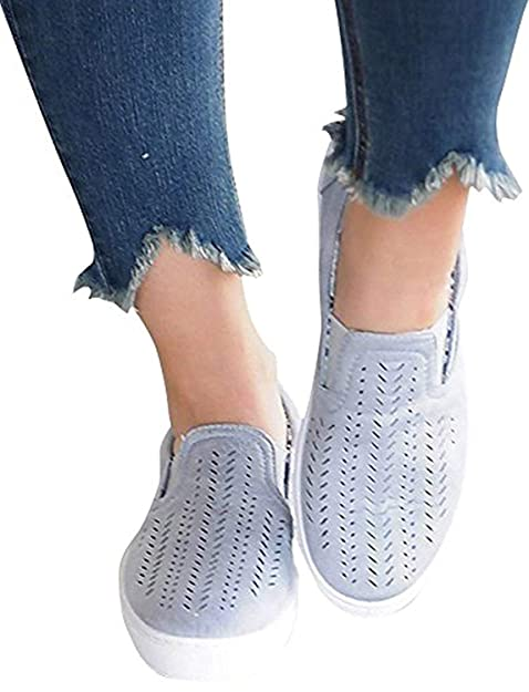 380ca5dd680ce Maybest Women Spring Summer Comfort Canvas Shoes Casual Hollow Flat Loafer  Shoes