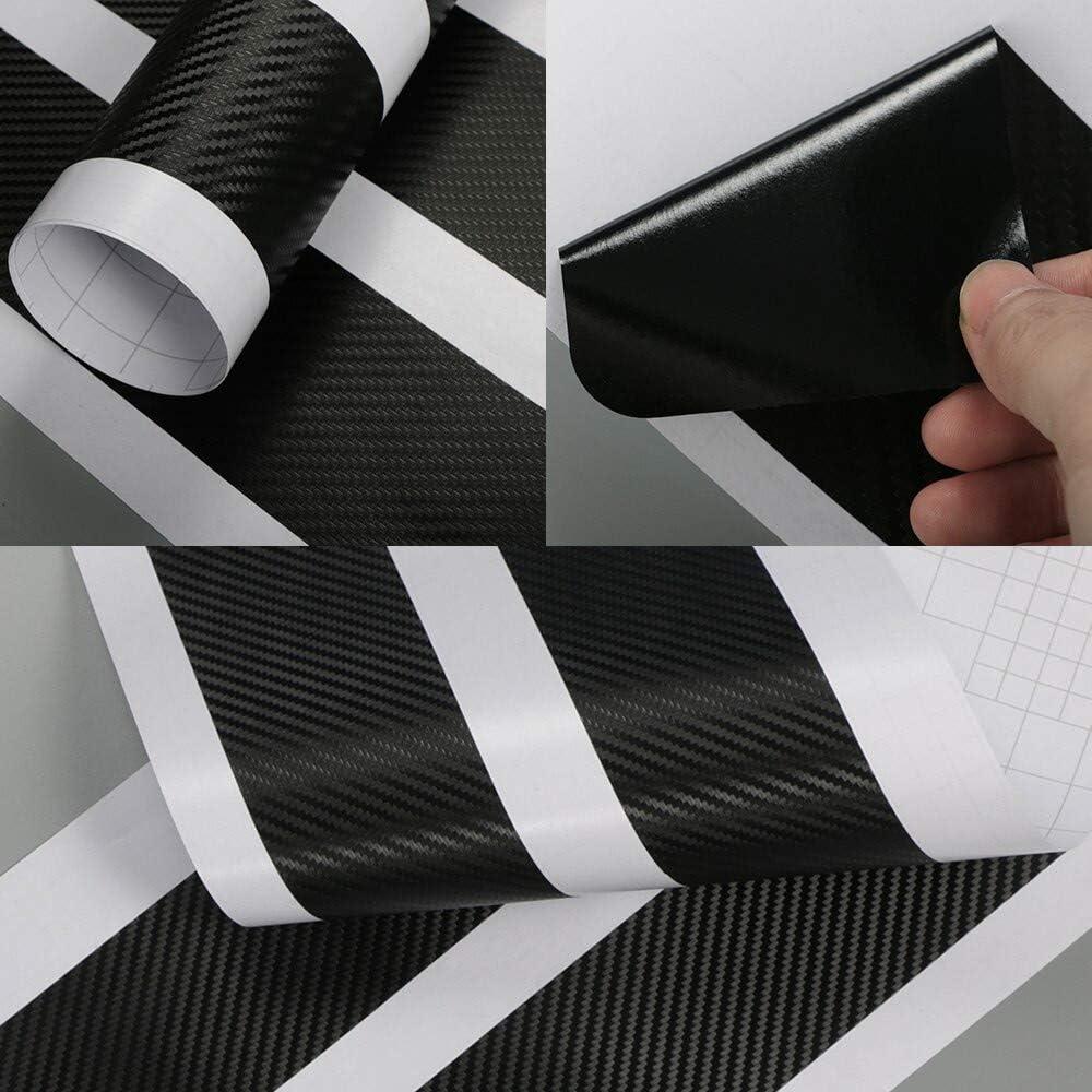 CHUDAN Kohlefaser Einstiegsleisten Auto Trim Cover Willkommen Pedal Kick 4Pcs Set Schwellenwert-Schutzaufkleber f/ür Suzuki Swift Styling Dekoration Zubeh/ör