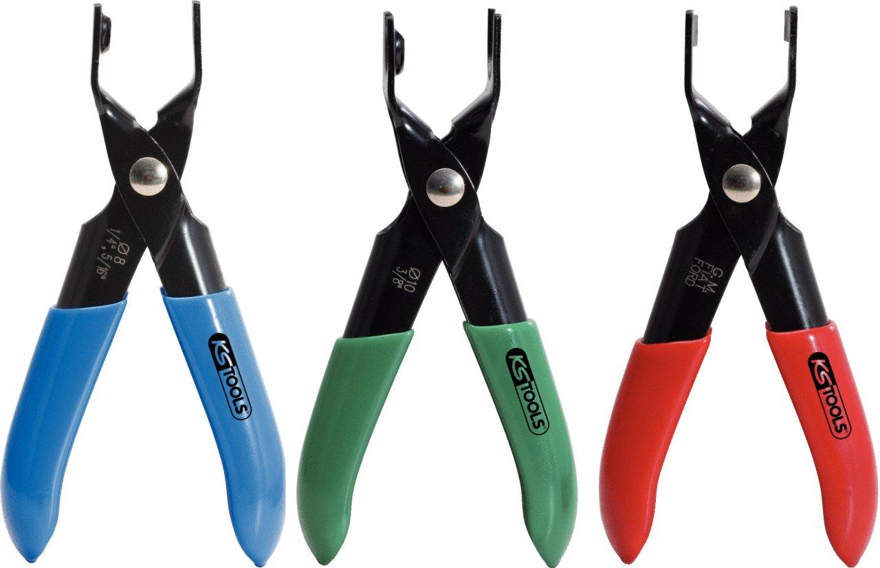 KS Tools 115.1090 Jeu de 3 pinces pour tuyau de combustible 4042146210390