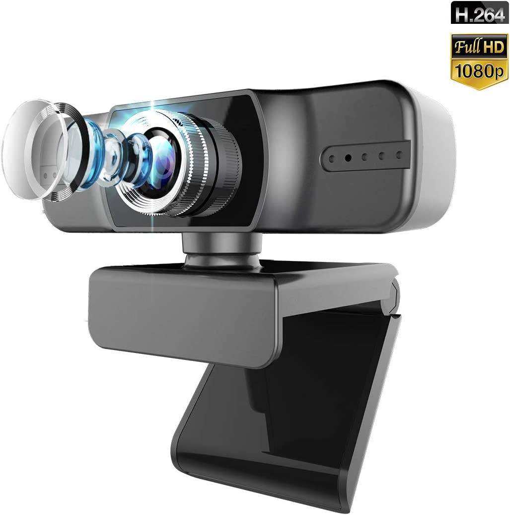 Webcam with Microphone for Desktop,FUVISION Manual Focus Full HD Live Stream Web Camera for Video Calling and Recording,Laptop,Computer USB Webcam with Widescreen and 360 Degree Rotatable Clip
