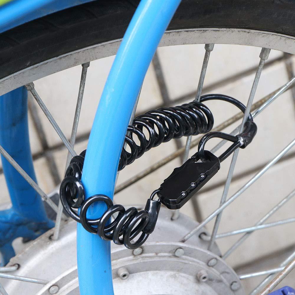 Serratura a combinazione con password digitale cavo di sicurezza in filo di acciaio serrature per bicicletta Silver tubo in PVC