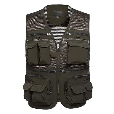 66ab3668cfc53c Sommer Mesh Atmungsaktive Outdoor Weste Weste Männer Tasche Multi Nner  Praktische Fotografie Jungen Weste Jacket: Amazon.de: Bekleidung