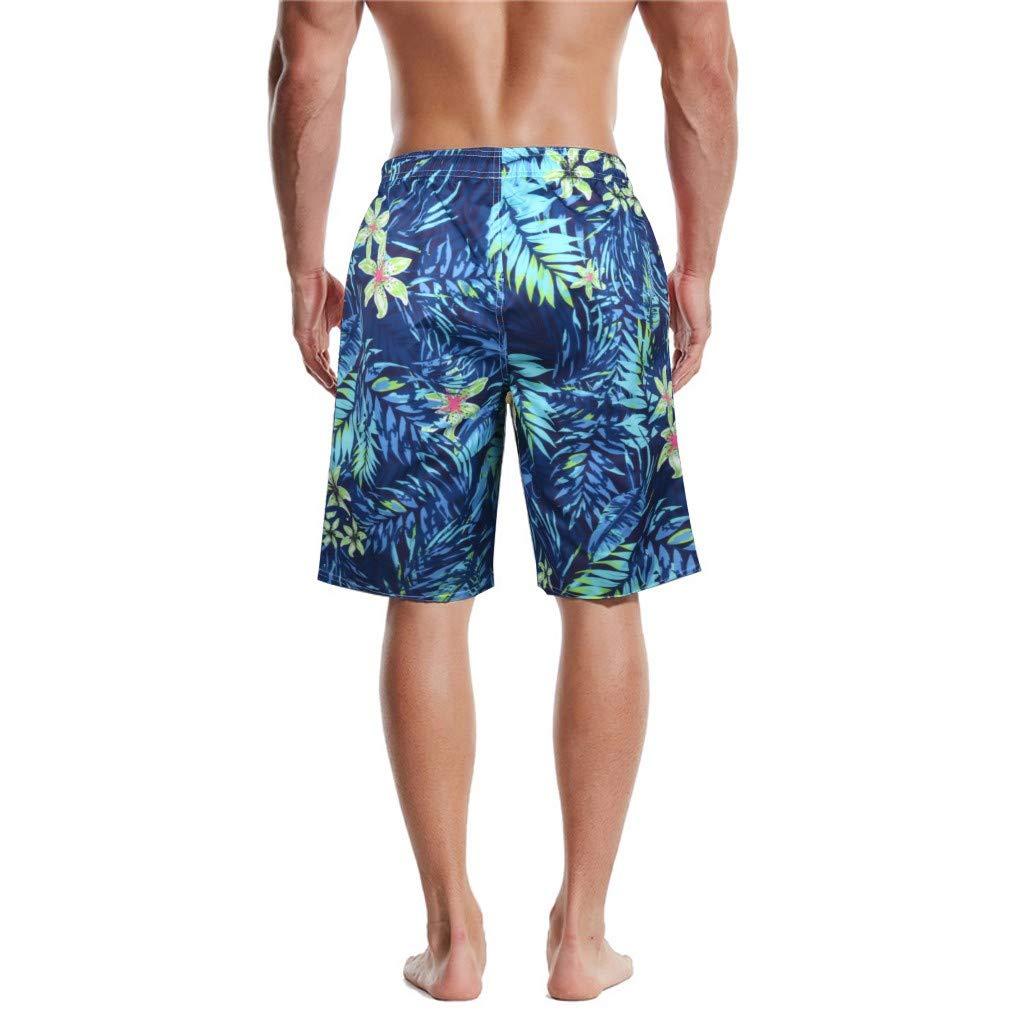Mens 3D Print Beach Shorts Pants,Mens Summer Surf Shorts,Mens Shorts Elastic Waist