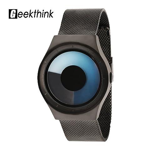 Reloj de pulsera tipos relojes de cuarzo con caja redonda de acero  inoxidable con correa jpg beb8ebe1b7ff