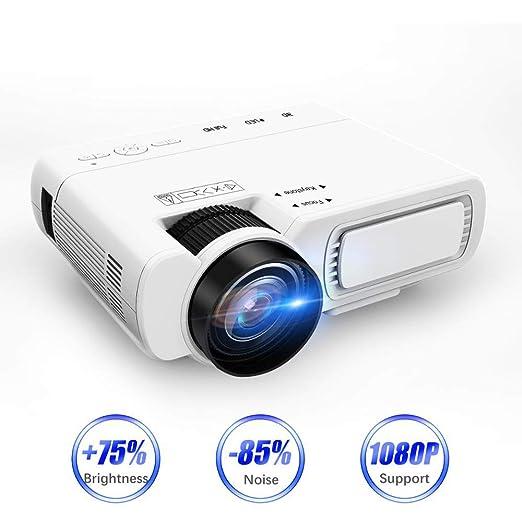 NBKLS Proyector, proyector portátil Mini 1800 lúmenes LED ...