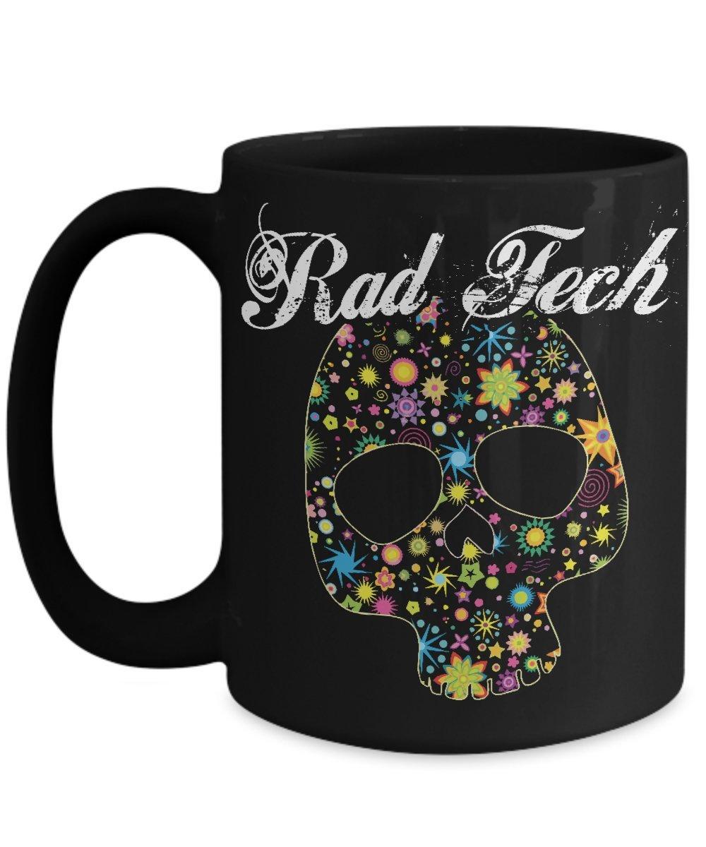 Amazon radiology tech mug fun foral skull rad tech rt xray amazon radiology tech mug fun foral skull rad tech rt xray coffee mug 15oa kitchen dining buycottarizona Image collections
