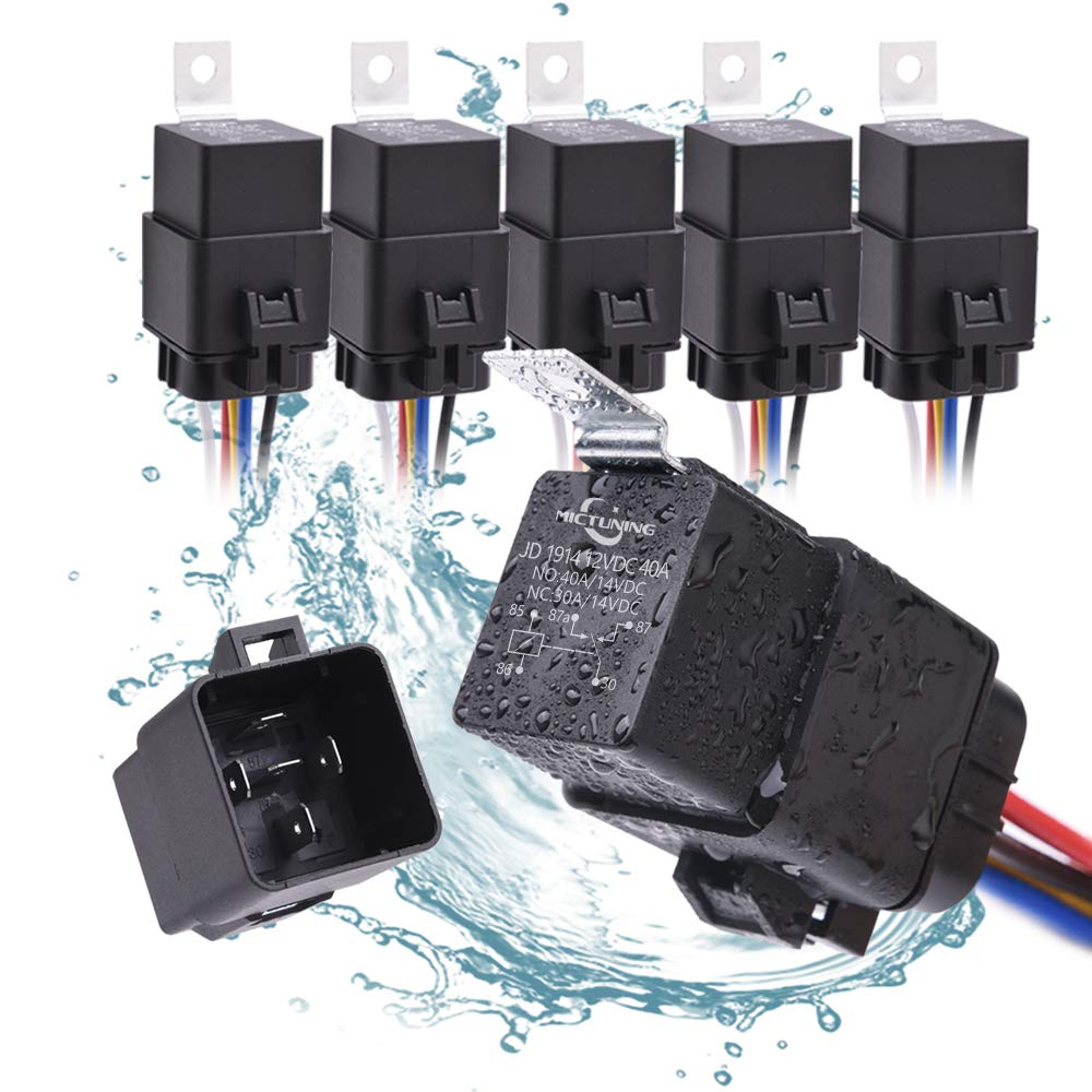 LED Light Bar Replacement Relays 10 Pack MICTUNING DC 12V 30//40 Amp 5pin SPDT Relay