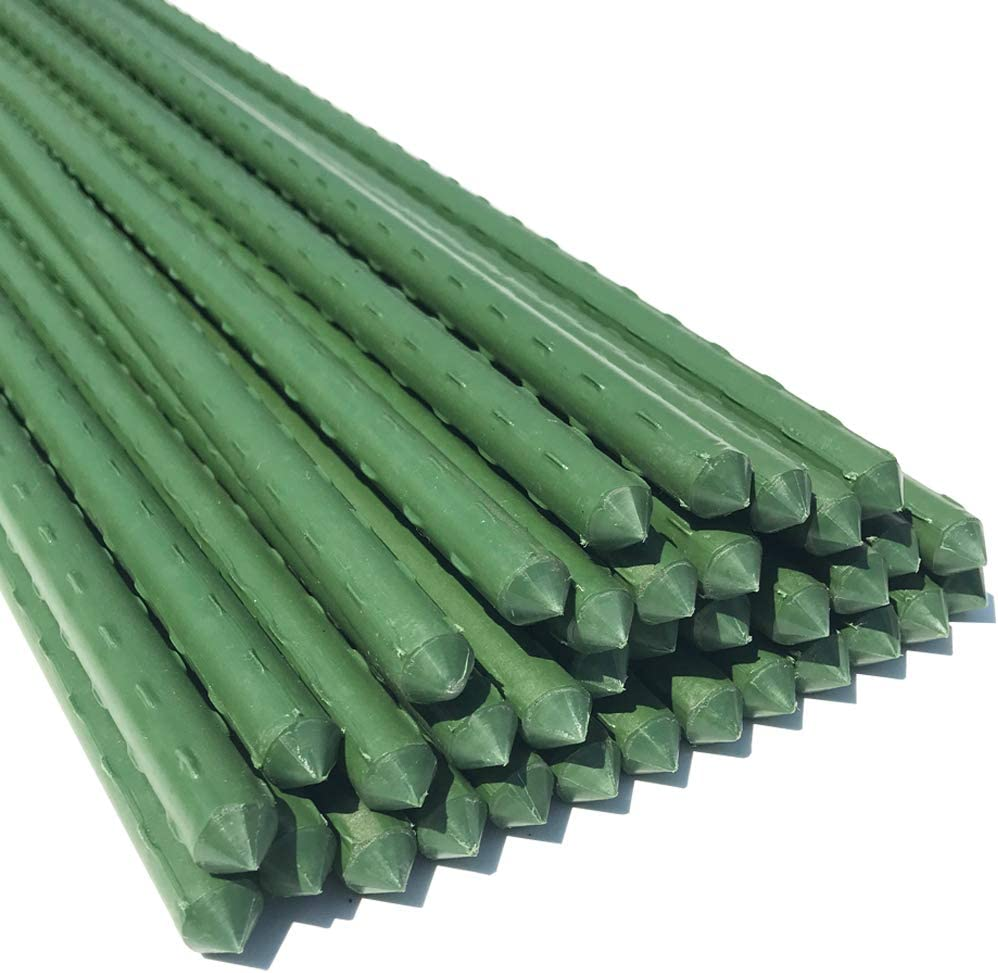 WAENLIR Garden Stakes 48 inch 4ft Sturdy Plant Sticks/Support, Tomato Stakes, Pack of 30