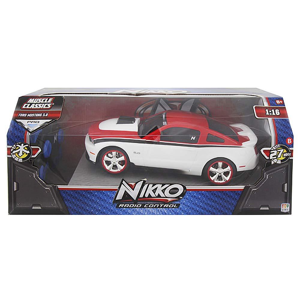 Nikko – Auto Fernbedienung, Ford Mustang 5.0, Weiß, Farbe Schwarz, 1994262 B07DLG36BK Autos Merkwürdige Form | Genialität