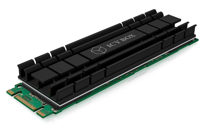 Icy Box Extra Delgado Avanzando Efecto De Enfriamiento Disipador De Calor De Aluminio Ajuste Universal Para Memoria M.2