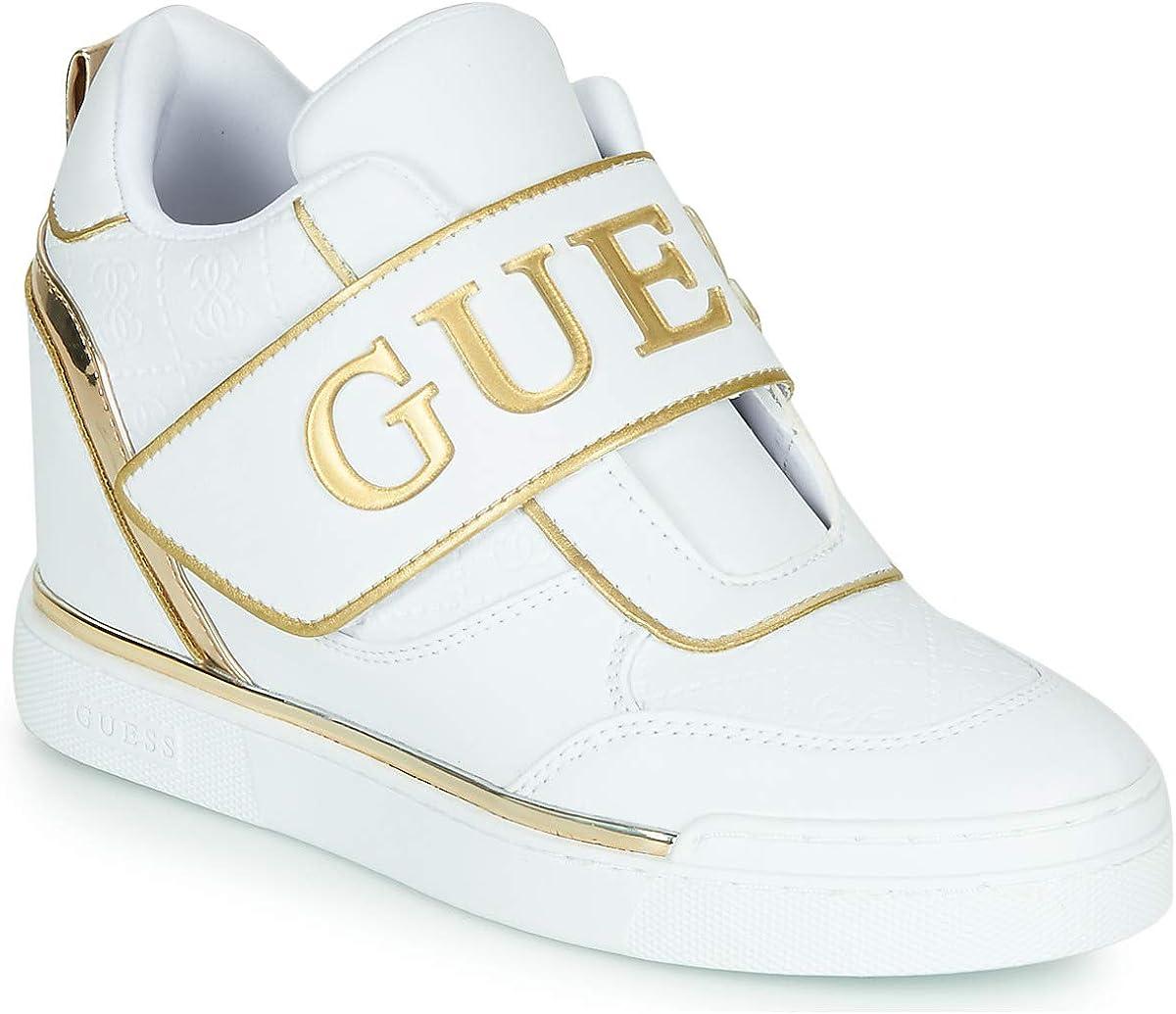 GUESS FOLLIE White FL5FOL ELE12, Zapatillas con cuña para Mujer