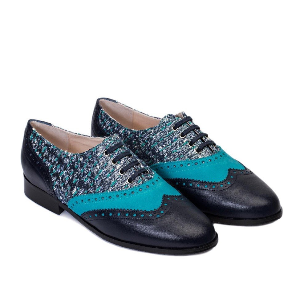 GENNIA Dakota Marino Azul - Mocasines para Mujer de Cuero y con Mini Tacón de 1 cm: Amazon.es: Zapatos y complementos