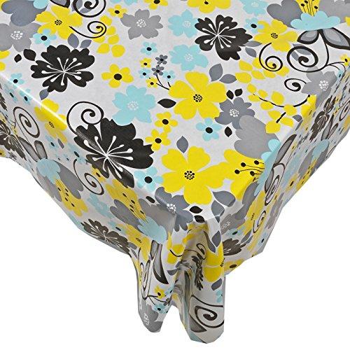 Home Bargains Plus Retro Garden Vinyl Flannel Back Tablecloth - 52