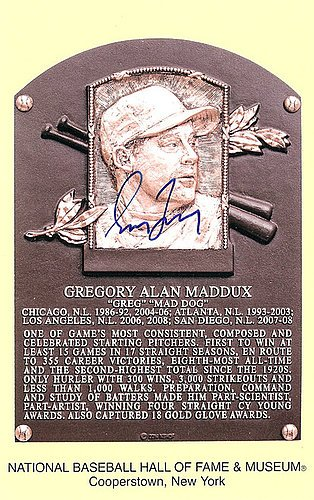 Greg Maddux Signed HOF Postcard Atlanta Braves - JSA Authentic - Autographed MLB Baseball (Memorabilia Postcard)