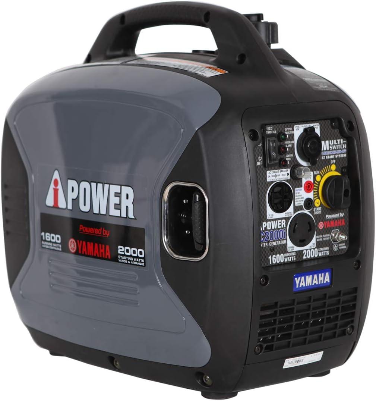 A-iPower SC2000iREC Inverter Generator Powered by Yamaha 2000-Watt 120 V Super Quiet CARB EPA Complied Renewed