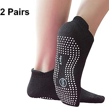 Amazon.com: Calcetines antideslizantes con agarre, para yoga ...