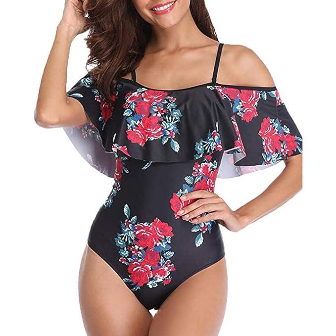 DressLksnf Mujer Sexy Bikini Original Trajes de Baño con Volante ...