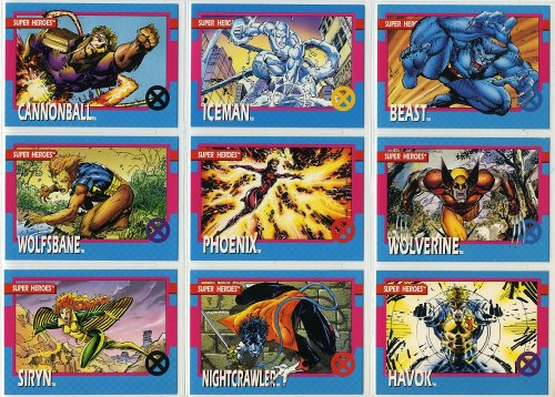 1992 Impel X-Men Series-1 100-Card New Complete Base Set in Collector Pages