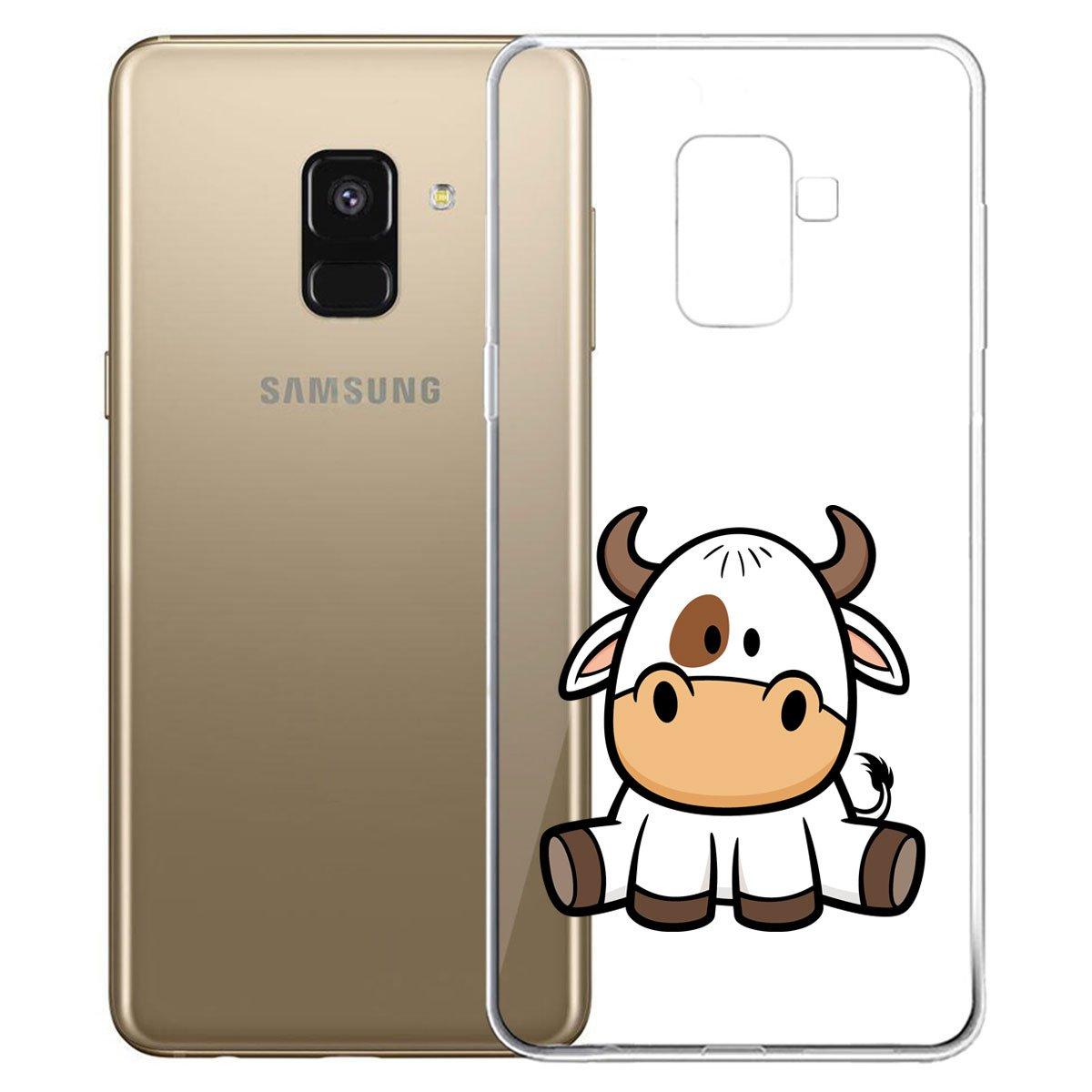 5.6 SM-A530 IJIA Trasparente Pony TPU Silicone Morbido Protettivo Coperchio Skin Custodia Bumper Protettiva Case Cover per Samsung Galaxy A8 2018 Custodia per Samsung Galaxy A8 2018