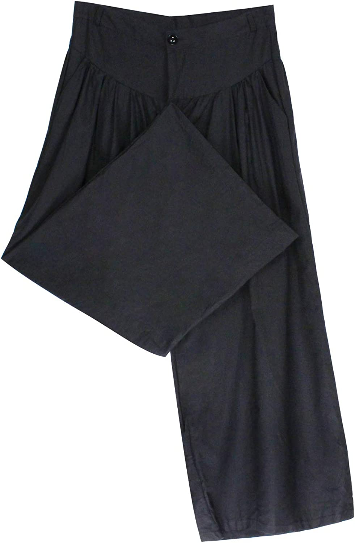 Landove Pantalone Gonna Donna Elegante Moda Tempo Libero Pantaloni Gamba Larga Vita Alta Zampa di Elefante con Tasche Vintage Svasato Pantalone Lungo Tinta Unita Wide Leg Pants Streetwear Casual
