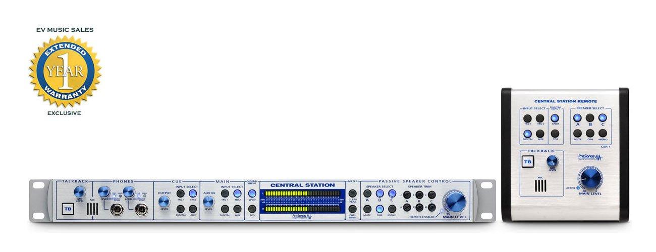 PreSonus La estación central Plus Centro de Control de Estudio w / control remoto: Amazon.es: Instrumentos musicales