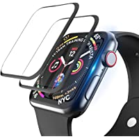 [2 Pack] [PET + PMMA ] Full Cover Screen Protector for Apple Watch 44mm Series 6/SE/4/5, Premium High Sensitive Full…