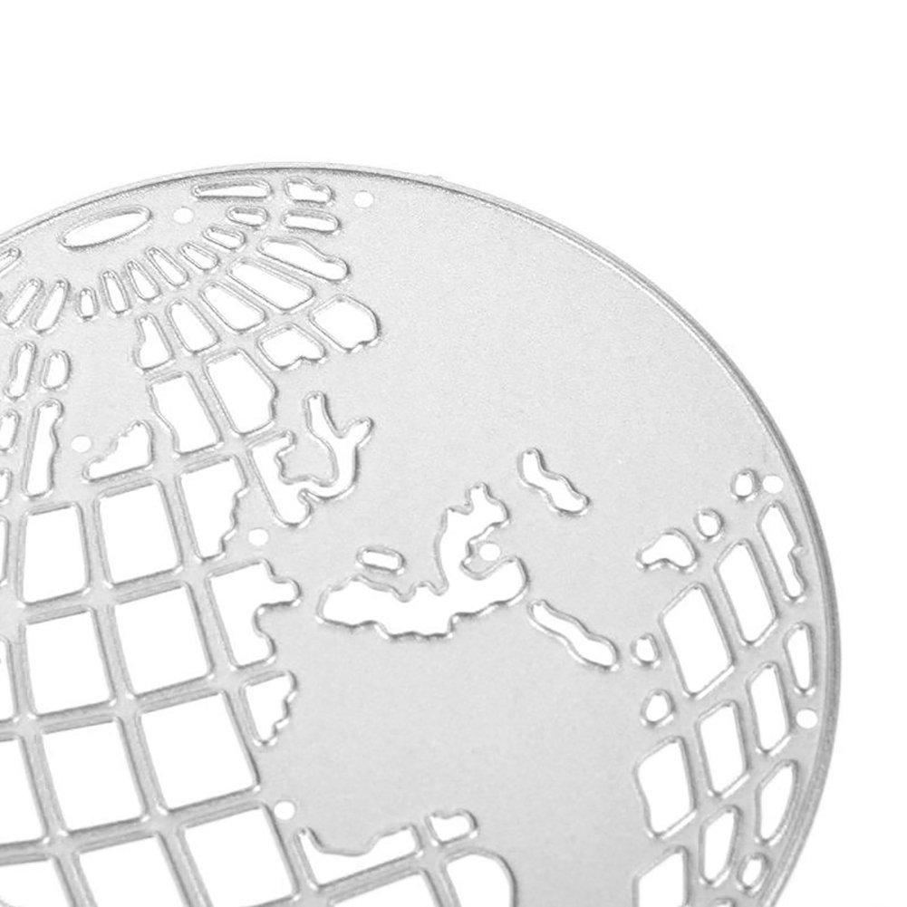 Gemini _ Mall® Tierra Globo plantillas de corte relieve Stencil para ...
