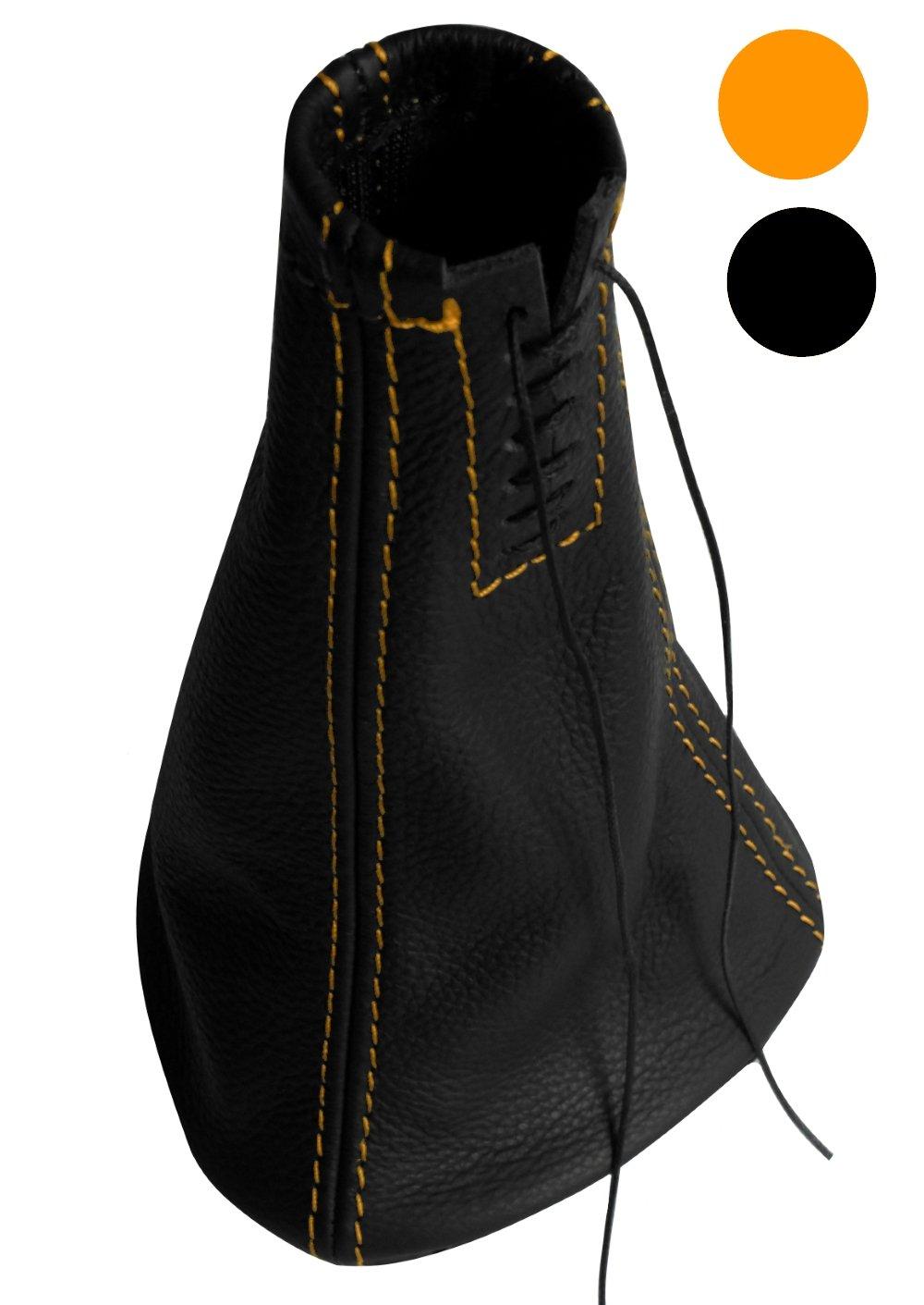 Azul AERZETIX Funda para palanca de cambios 100/% Piel genuina negro con costuras de colores variables