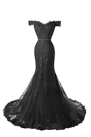 Pettus Women\'s Off-The-Shoulder Sequins Prom Dress Applique Long ...