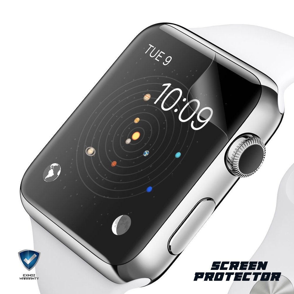 EXINOZ Apple Watch Screen Protector I Protection with 1-Year Replacement Warranty I Get the Best for Your Apple Smart Watch (38mm 2 Pack) by EXINOZ (Image #3)