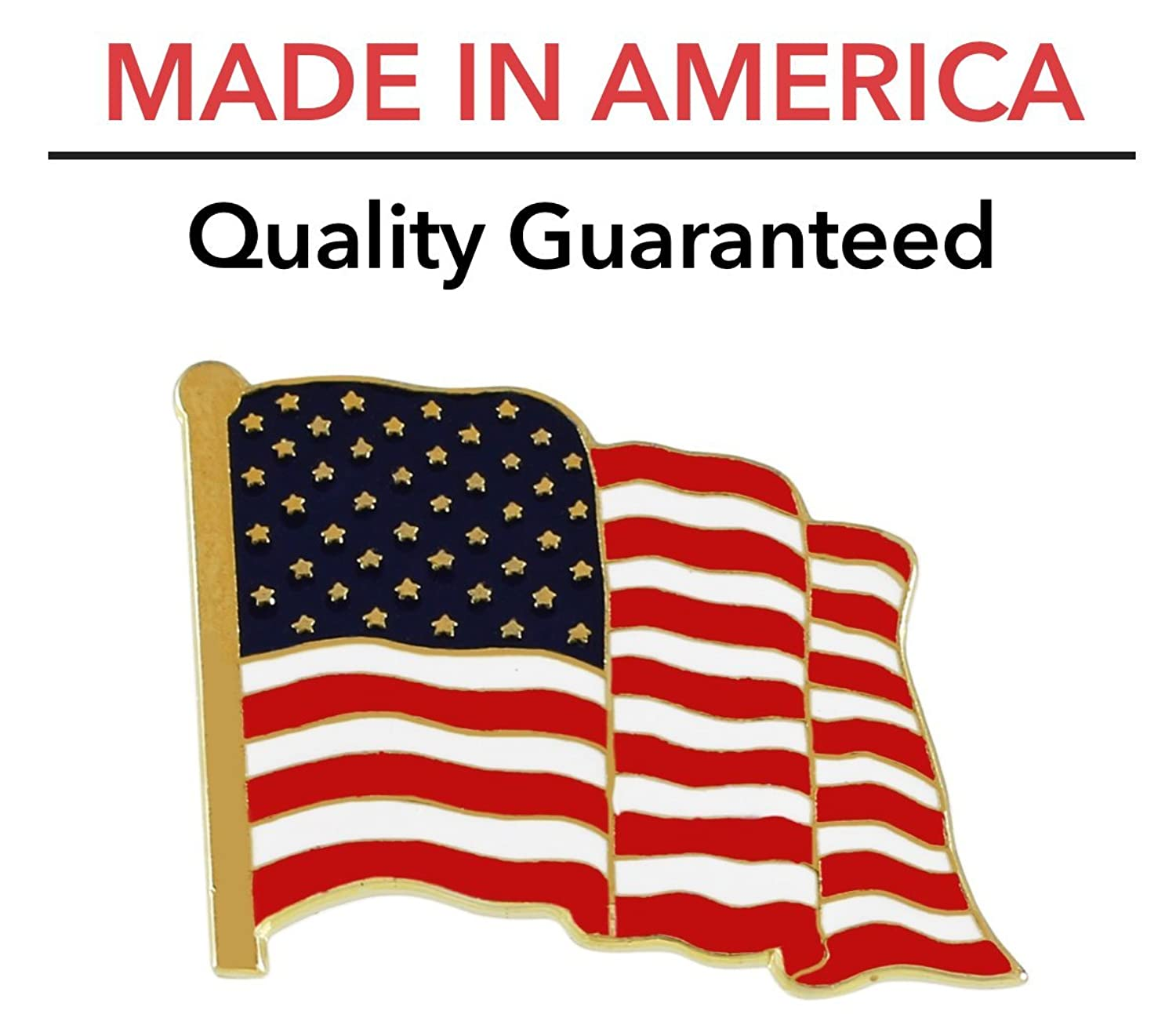 amazon com american flag lapel pin proudly made in usa 1 piece