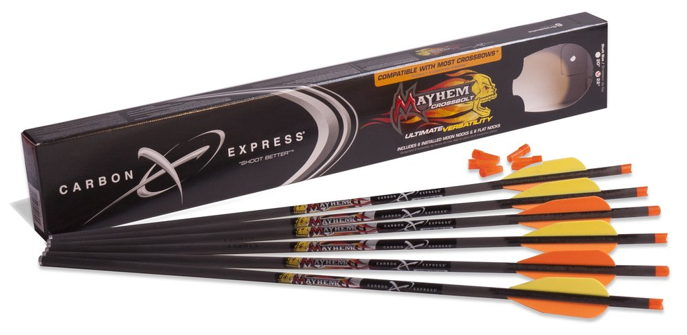 Carbon Express Mayhem Fletched Carbon Cross Bolt